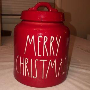 Rae Dunn Merry Christmas Canister